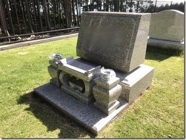 伊豆伊東市天城霊園芝生墓地のお墓の完成事例1 (1)