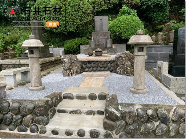 伊東市でお墓の墓地のリフォーム雑草対策クリーニングなら石井石材へ2