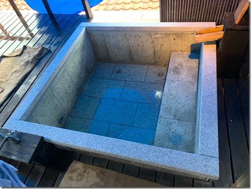 温泉旅館ホテル様の浴室工事露天風呂工事は伊豆伊東の石井石材へお任せください